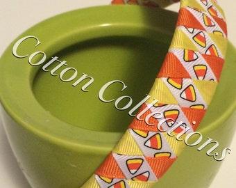 Candy corn woven headband