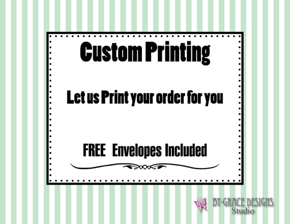 Custom Printing - Cards with  FREE Envelopes included - Print your design or ours - Custom card design printing