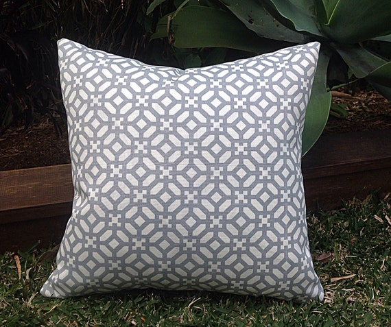 Modern Outdoor Cushions Geometric Grey Outdoor Pillow Outdoor