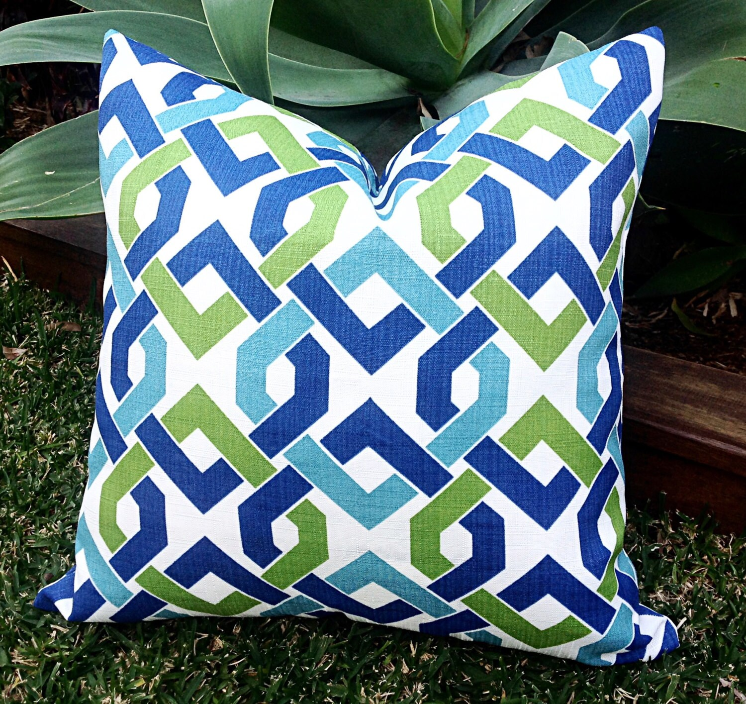 Outdoor Cushions Indoor Outdoor Pillows by MyBeachsideStyle