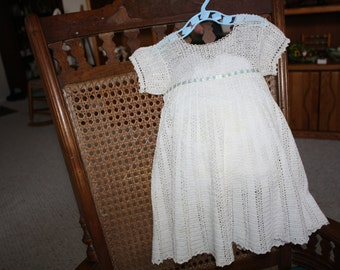 Grandma made antique crocheted toddler dress