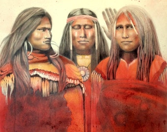 THE GOSSIPS - Native American portraits