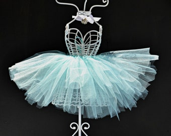 Ballerina Tutu Centerpiece/Wire Mannequin Dressform/Dressform Jewelry Display/Bridal Centerpiece/Sweet 16 Centerpiece