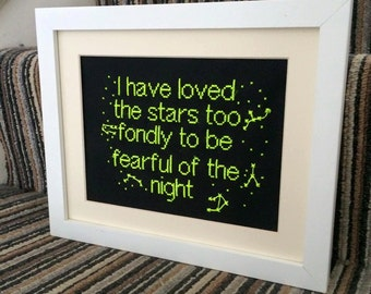 Cross Stitch Pattern - I have loved the stars to fondly to be fearful of the night - Galileo - Patterns - PDF Format