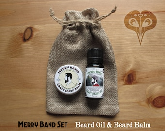 Merry Band Beard Set | Oil & Balm | 100% Natural | Pine Forest