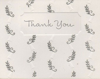Vintage Wedding Thank You Cards - Perfect for showers, weddings, parties, special occasions