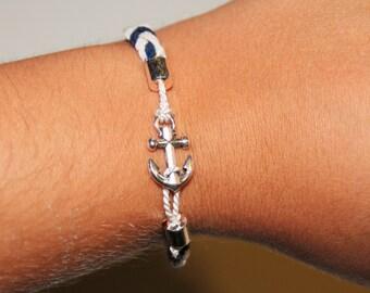 Nautical Jewelry - Braided Anchor Bracelet