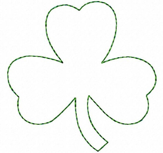 Raggy leaf clover hoop sizes instant download from