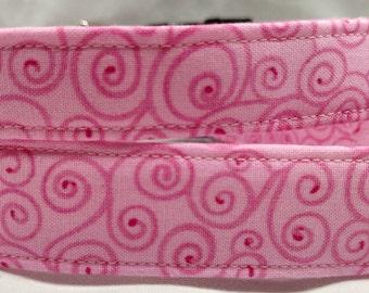 Light Pink Swirl Dog Collar