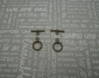 50 pairs antique bronze toggle clasps , antique bronze OT clasps , CP1045