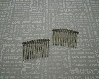 50pcs antique bronze color Metal Hair Combs (15 teeth) 58x39mm  HA165