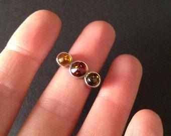Vintage Sterling Amber Ring