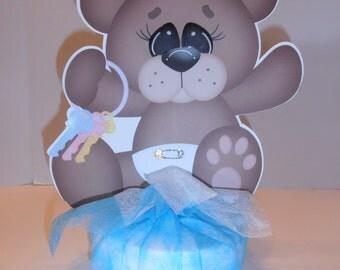 Baby Boy Bear or Girl centerpiece - Double sided