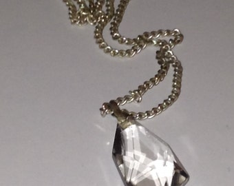 Austrain Crystal Pendant, Stunning Colourless Multi Faceted Austrian Crystal Pendant