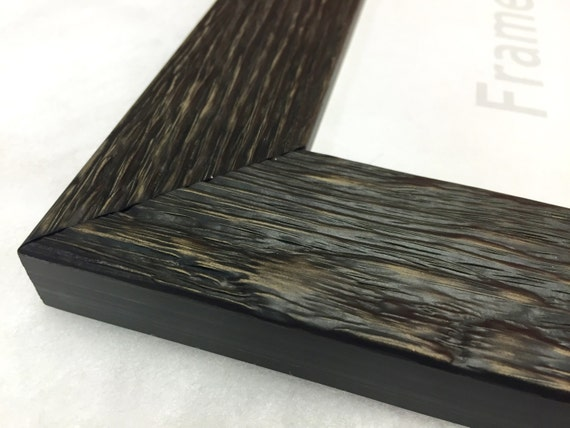 Black Rustic Reclaimed Distressed Barn Wood Picture Frame