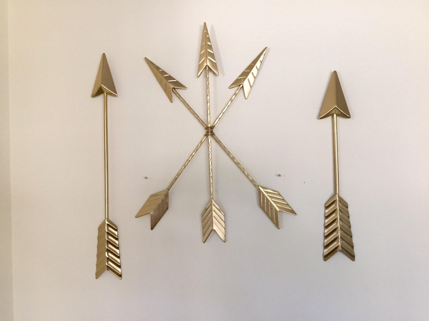Gold Arrow Wall Decor : Arrows wall decor tribal metal gold