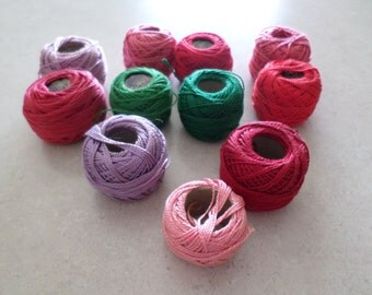 Lot of 11 Vintage Skeins DMC Coton Perle Made in France
