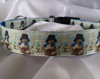 Handmade Paddington Bear Dog Collar