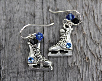 Hockey Skate Earrings, Ice Hockey Jewelry