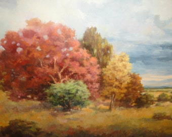 Vintage Plein Air Oil Painting Attributed to Listed Artist C.E. Rubino
