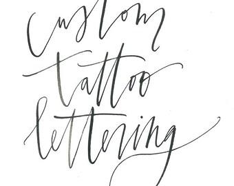 custom tattoo calligraphy