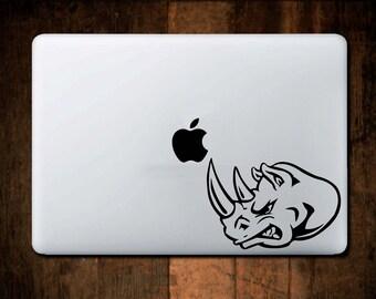 Rhino Decal Head MacBook Decal,Vinyl,Car Decal, Window Decal, ipad decal, laptop decal