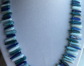 Shades of Blue Shell Necklace
