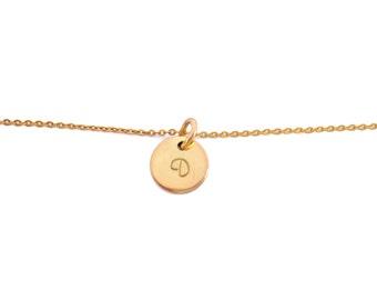 Fine bracelet gold chain letter
