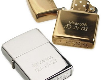 Engraved Wedding Personalized Engraved Zippo Lighter Silver