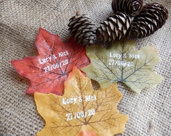 Fall wedding favors. Autumn wedding favours. Personalised wedding favours.