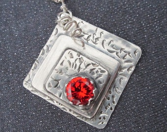 pendant necklace, sterling necklace, sterling jewelry, gemstone jewelry, gemstone necklace, silver jewelry, modern jewelry, orange gemstone