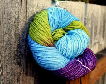 Hydrangea - Hand Painted Merino Yarn - Superwash - DK - Light Worsted