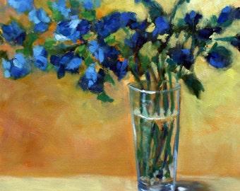 Blue Bouquet 18x18 original oil painting