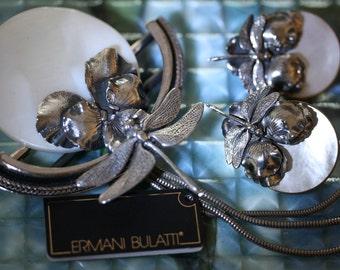 Fabulous Ermani Bulatti Dragonfly Earrings & Brooch