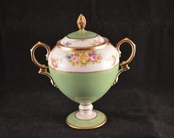 ANTIQUE NORITAKE Breakfast Lidded Sugar Bowl - c1908