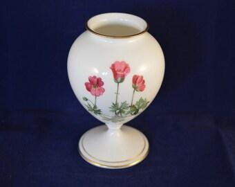 MINTON Small Floral Pedestal Vase