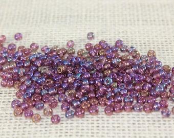 Vintage 4mm Purple Seed Beads (120 Pieces)
