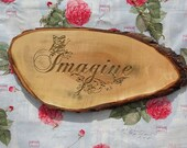 Word Sign word IMAGINE with Butterflies Reclaimed Wood Sign ~ Word Wall Art ~ Wall Words ~ Rustic Home Decor by TheWoodGrainGallery