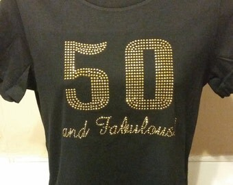 50 and Fabulous- Gold Studs
