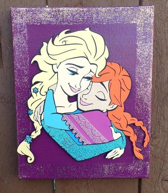 Frozen Wall Decor Kit : Anna and elsa frozen wall decor