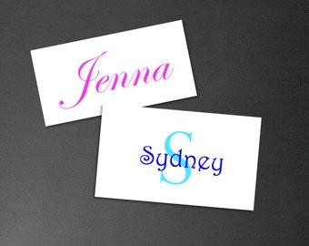 Name Monogram Sticker