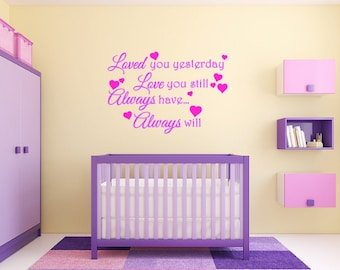 Loved Nursery Wall Quote