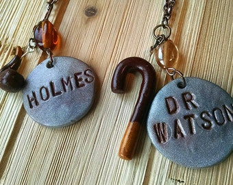 Sherlock Holmes and Dr. Watson friendship necklaces, Sherlock BBC