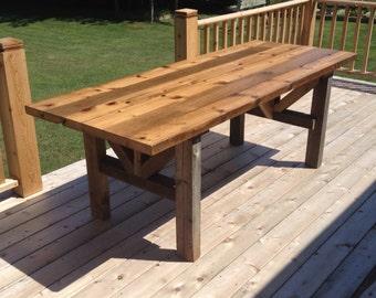 Timber Leg Barn Wood Dining Table
