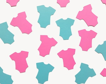 Onesie Confetti, Gender Reveal Confetti, Gender Reveal Party Decorations