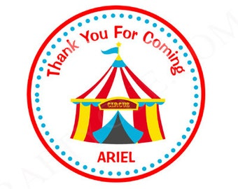 Circus Favor Tags, Circus Goody Bag Tags, Circus Favors, Carnival Favor Tags, Circus Tent