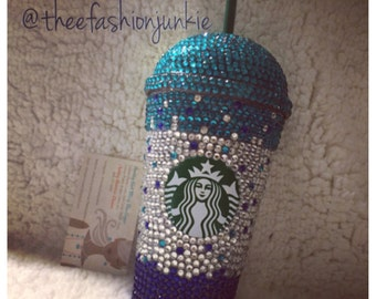 Dome top Bling Starbucks cup