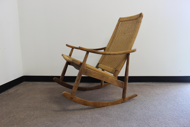 yugoslavian rocking chair mid century danish modern hans wegner era
