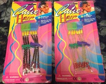 Vintage Deadstock 1990s Cutie Hair Comb Extensions