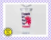 I Teach Art. Whats Your SUPERPOWER? Related Arts Teacher Gift, Art Teacher, PE Teacher, Music Teacher, Specials Teacher, Resource Teacher